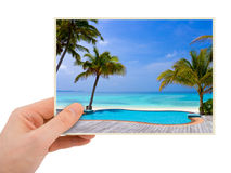 Photography in hand Stock Image
