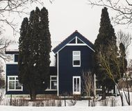 Photography of a House During Winter Royalty Free Stock Photo