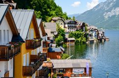 Photography of Houses Beside Body of Water Royalty Free Stock Photo