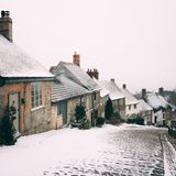 Photography of Houses During Winter Royalty Free Stock Image