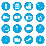 Photography icon blue. Photography simple icon blue isolated vector illustration Royalty Free Stock Photography