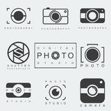 Photography icon set Royalty Free Stock Photo
