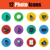 Photography icon set Stock Photo