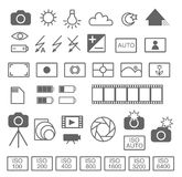 Photography icon set. In  format on white background Stock Image