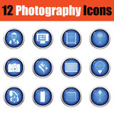 Photography icon set. Royalty Free Stock Images