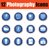 Photography icon set. Stock Photo