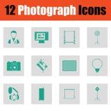 Photography icon set Stock Photography