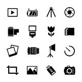 Photography Icon Set Royalty Free Stock Photography
