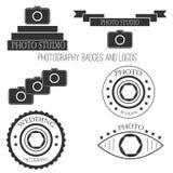 Photography icon set Stock Photos