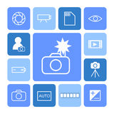 Photography icon set Royalty Free Stock Image