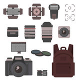 Photography icon vector set. Stock Photos