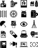 Photography icons Stock Photos