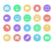 Photography icons Royalty Free Stock Photography
