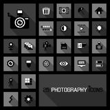 Photography icons concepts Royalty Free Stock Photos