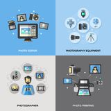 Photography Icons Flat Royalty Free Stock Photo