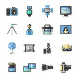 Photography Icons Flat Stock Photography