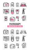 Photography icons. Royalty Free Stock Photos