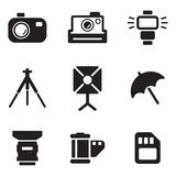 Photography Icons Royalty Free Stock Photo