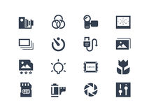 Photography icons Stock Image