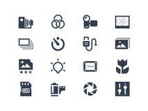 Photography icons. Isolated on white Stock Image