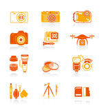 Photography icons || JUICY series Royalty Free Stock Photography
