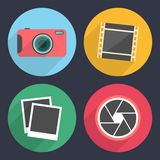 Photography icons with long shadow. Set 2 Stock Photography