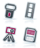 Photography Icons Set. Photography tools & equipment icons set, pictured here from left to right Royalty Free Stock Image