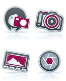 Photography Icons Set Stock Image