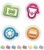 Photography Icons Set Stock Image