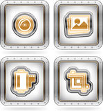 Photography Icons Set. Web icons (internet icons), pictured here from left to right Royalty Free Stock Images