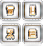 Photography Icons Set Stock Photo