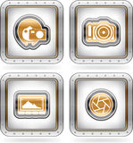 Photography Icons Set Stock Images