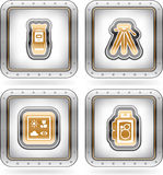Photography Icons Set Stock Photos