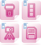 Photography Icons Set. Photography tools & equipment icons set, pictured here from left to right, top to bottom Stock Image