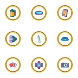 Photography icons set, cartoon style. Photography icons set. Cartoon style set of 9 photography vector icons for web design Royalty Free Stock Photo