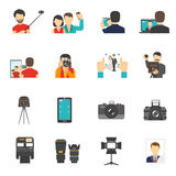 Photography Icons Set Royalty Free Stock Photo
