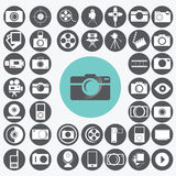 Photography icons set. Stock Image