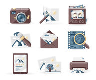 Photography icons Stock Images