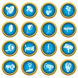 Photography icons set, simple style. Photography icons set. Simple illustration of 16 tennis icons set vector icons for web Stock Image