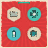 Photography Icons Set. Photography tools & equipment icons set, pictured here from left to right, top to bottom Royalty Free Stock Photo
