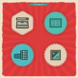 Photography Icons Set Stock Photo