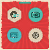 Photography Icons Set Stock Photography