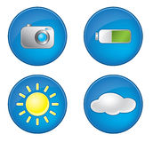 Photography icons set Royalty Free Stock Photos