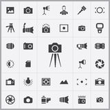 Photography icons universal set. For web and mobile Royalty Free Stock Images