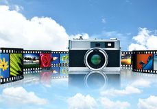 Photography and image sharing stock photo