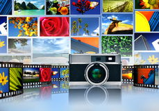 Photography and image sharing vector illustration