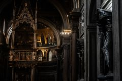 Interior of a church in Rome. royalty free stock photos