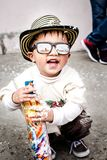 Photography of Kid Wearing Sunglasses Royalty Free Stock Photo
