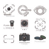 Photography label vector set. Royalty Free Stock Photography