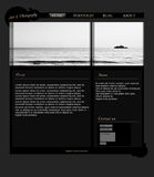 Photography layout. Photography black and white picture layout stock illustration